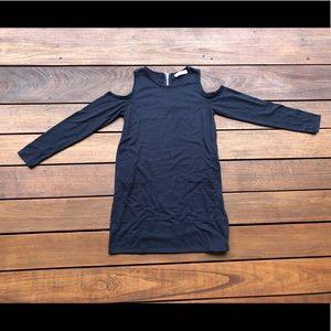 Open Shoulder Straight Dress